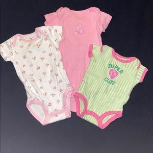New born girl onesies